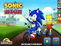 Sonic E Bart Simpson Gara Di Bici