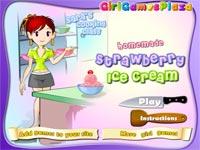 Cucina con sara gelato alla fragola gioca giochi - Giochi di cucina sara ...